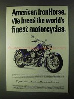 1999 American IronHorse Motorcycles Ad - Breed Finest