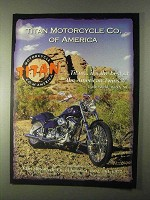 1999 Titan Motorcycles Ad - Best of American Twins