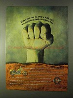1999 Titan Motorcycles Ad - Seen This Hand in Bar Fight