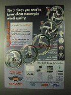 1999 Carriage Works Wheels Ad - Cyclone, Tri-ad