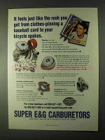 1999 S&S E&G Carburetors Ad - Baseball Card to Bicycle