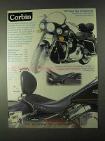 1999 Corbin Leather Seating Ad - Road King Components