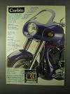 1999 Corbin Fairing, Chin Spoiler and Front Fender Ad
