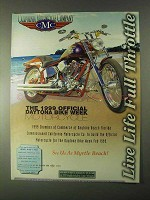 1999 CMC Motorcycle Ad - Daytona Bike Week Motorcycle