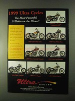 1999 Ultra Motorcycle Ad - Legacy, Wide One, Patriot