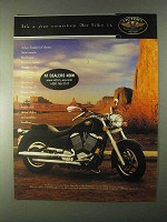 1999 Victory V92C Motorcycle Ad - It's a Free Country