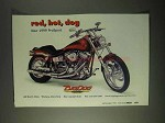 1999 Big Dog ProSport Motorcycle Ad - Red, Hot
