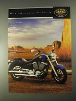 1998 Victory V92C Motorcycle Ad - It's A Free Country