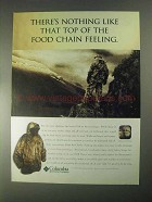 1998 Columbia Silent Rain Parka Ad - Top of Food Chain