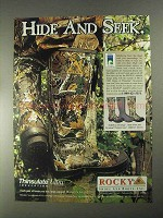 1998 Rocky AnkleFit Rubber Boots Ad - Hide and Seek