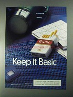 1998 Basic Cigarettes Ad