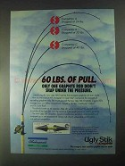 1998 Shakespeare Ugly Stik Graphite Fishing Rod Ad