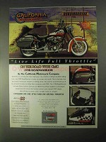 1998 CMC RoadWarrior Motorcycle Ad - Live Life Full Throttle