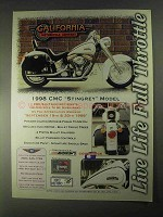 1998 CMC StingRey Motorcycle Ad - Full Throttle