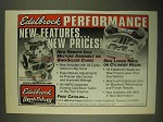 1998 Edelbrock QwikSilver Carbs Ad - New Features