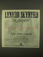 1993 Lynyrd Skynyrd The Last Rebel Album Ad