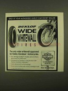 1993 Dunlop Wide Whitewall Tires Ad