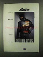 1992 Indian Motorcycle Jacket Ad - The Legend Returns