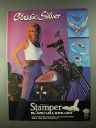 1989 Stamper Black Hills Silver Ad - Classic Silver