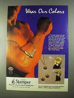 1989 Stamper Black Hills Gold Jewelry Ad - Wear Colors