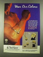 1988 Stamper Black Hills Gold Jewelry Ad - Our Colors