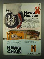 1987 Custom Chrome Hawg Chain Ad - Hawg Heaven