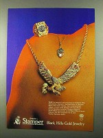 1987 Stamper Black Hills Gold Jewelry Ad