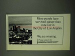 1987 American Cancer Society Ad - More Have Survived