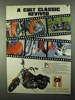 1986 Custom Chrome FXRS Accessories Ad - Cult Classic