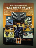 1986 Custom Chrome Parts & Accessories Ad - Right Stuff