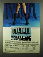 1984 Chippewa Nasty Feet Boots Ad - Nothing Close
