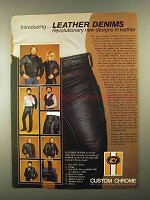 1983 Custom Chrome Leather Denims Ad - Revolutionary