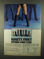 1983 Chippewa Nasty Feet Boots Advertisement - Nothing Close
