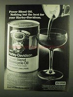 1981 Harley-Davidson Power Blend Motorcycle Oil Ad