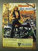1981 Drag Specialties Parts and Accessories Ad, in 80's