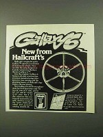 1978 Hallcraft Gallaxy 6 Motorcycle Wheel Ad