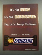 1997 Snickers Candy Bar Ad - It's Not Improved