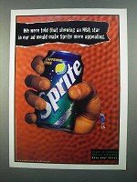 1996 Sprite Soda Ad - Showing an NBA Star in Our Ad