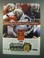 1996 Donruss Red Zone Card Game Ad - Linebacker Blitz