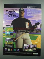1996 Akklaim Frank Thomas Big Hurt Baseball Game Ad