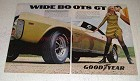 1968 Goodyear Wide Boots GT Tires Ad