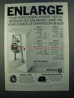 1968 Beseler 23C Enlarger Ad - Purchasing Power