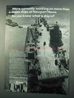 1968 Newport News Shipbuilding and Dry Dock Company Ad - Working On