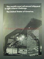 1968 Newport News Shipbuilding and Dry Dock Company Ad - Advanced