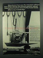 1968 Newport News Shipbuilding and Dry Dock Company Ad - Minutes