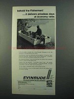 1968 Evinrude Fisherman Outboard Motor Ad - Behold