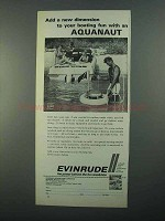 1968 Evinrude Aquanaut Surface Fresh Air Diving Ad