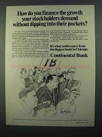 1968 Continental Bank Ad - Finance the Growth