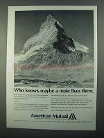 1968 American Mutual Ad - Maybe a Mole Lives There