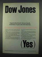 1968 Dow Jones Ad - Opportunity Doesn't Always Knock